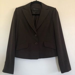 BCBG Maxazria Small Brown Professional Blazer.